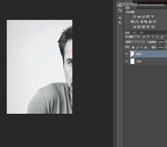 小罗伯特唐尼黑白头像 ps滤镜制作复古波纹线条人像照片的操作教程