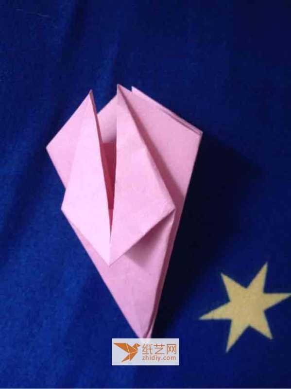 樱花书签画 简单折纸樱花的手工折纸教程折法制作