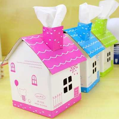屋子里宝宝了图片 儿童手工制作纸盒小房子diy图片大全
